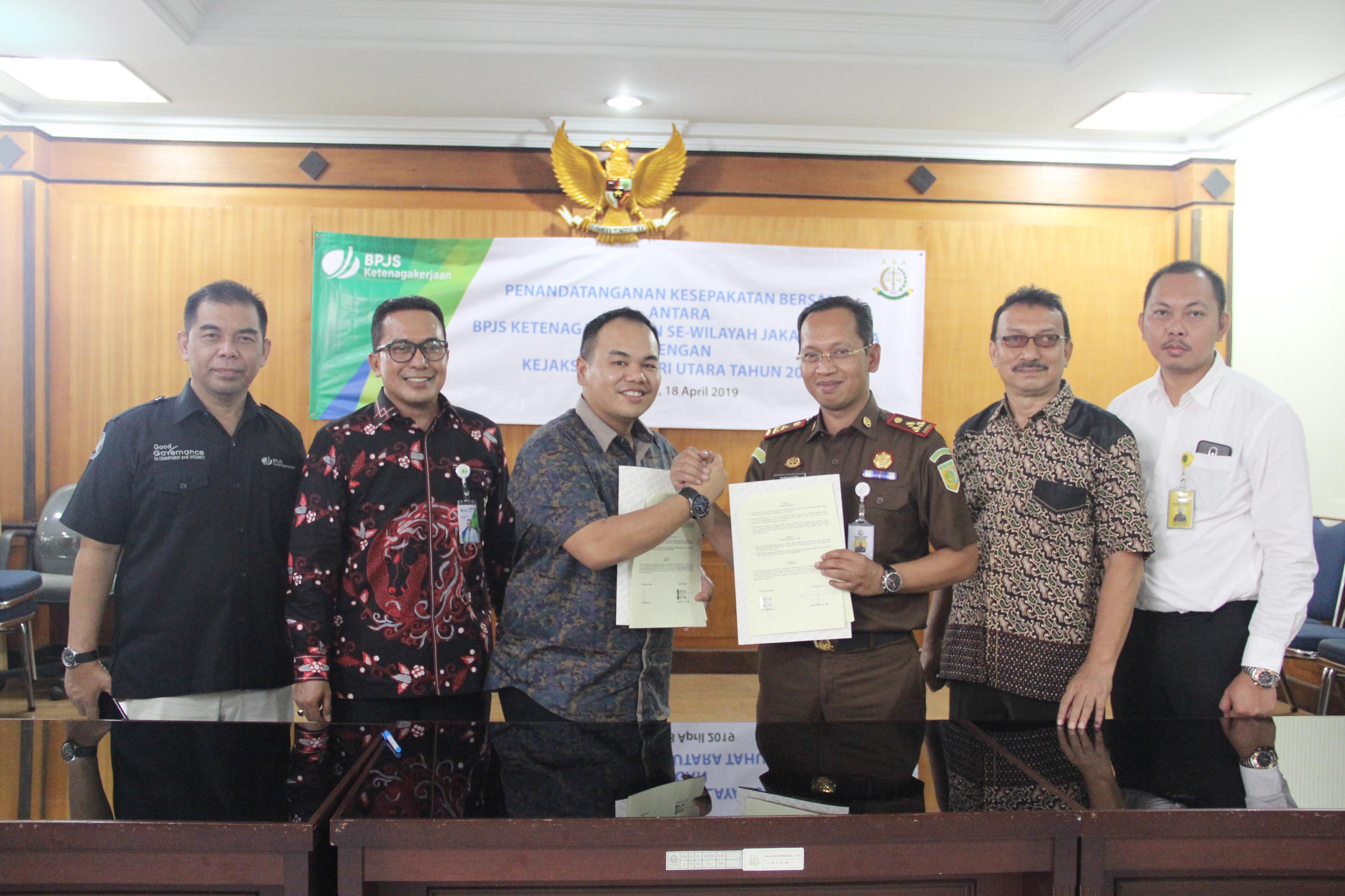 Mou Memorandum Of Understanding Antara Bpjs Ketenagakerjaan Se Wilayah Jakarta Utara Dengan Kejaksaan Negeri Jakarta Utara